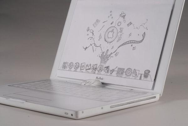 Как сделать макбук из бумаги
