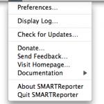 SMARTReporter – предупреждает об ошибках HDD