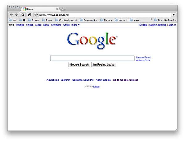 Google Chrome для Mac OS X — пока выстрел по воробьям.