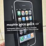 iPhone + чехол mophie juice pack air : телефон вдвойне мощней