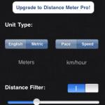 Distance Meter: Измеритель пройденного пути на iPhone