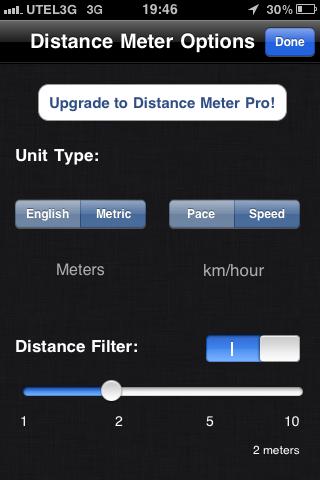 Программу для измерения километров