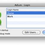 Adium: Загрузка под другим профилем