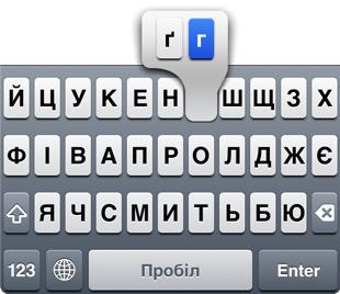 Украинская буква г.