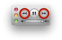 Миниплеер с кнопками прокрутки.