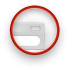 Овальная кнопка «под лупой».