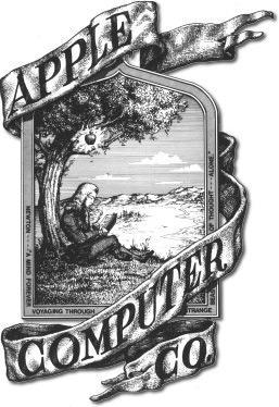 Первый логотип Apple.