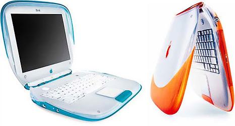 Первые iBook — «унитазные седушки».