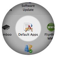 Иконка Default Apps в «Системных настройках».