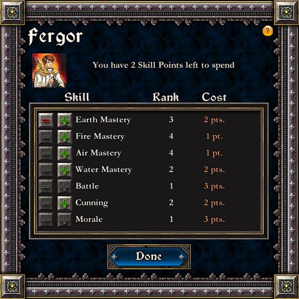 Увеличение способностей персонажа при переходе на новый уровень.