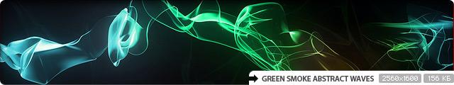 Green Smoke Abstract Waves