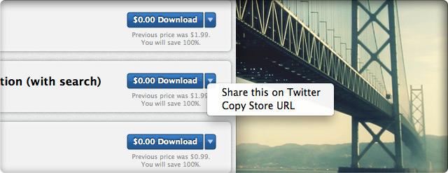 Функции публикации ссылки на выбранный продукт в мак-версии Store News.