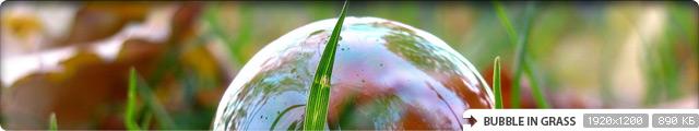 Bubble in Grass