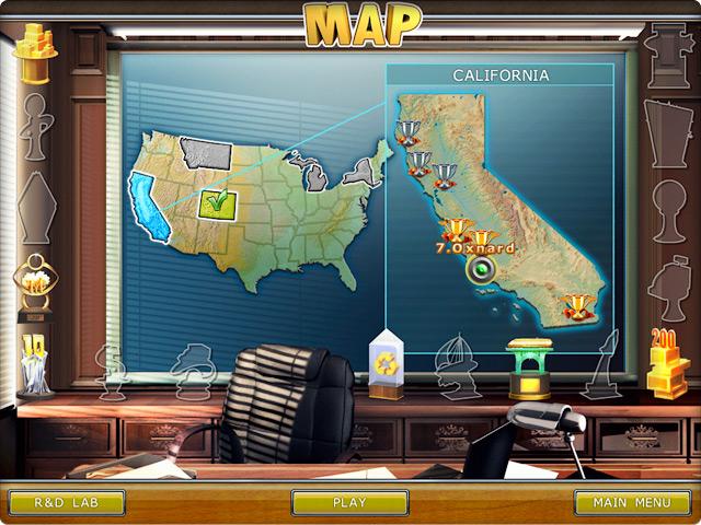 Карта уровней.
