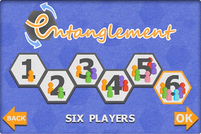 Выбор числа игроков (от 1 до 6).