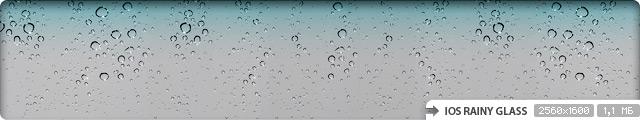 iOS Rainy Glass