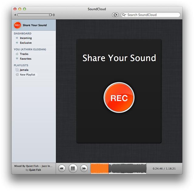Окно программы в режиме записи с микрофона.