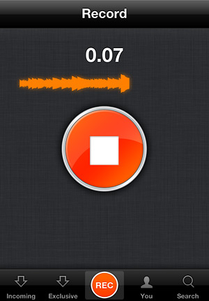 Процесс записи в iOS-клиенте.