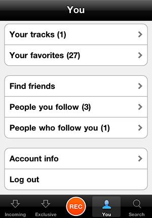 Раздел профиля пользователя в iOS-клиенте.