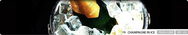 Champagne in Ice