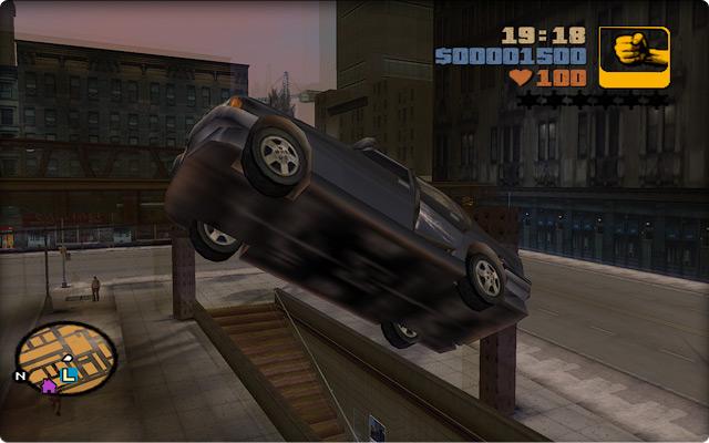 Grand Theft Auto III. Сальто над эстакадой метро в Портленде.