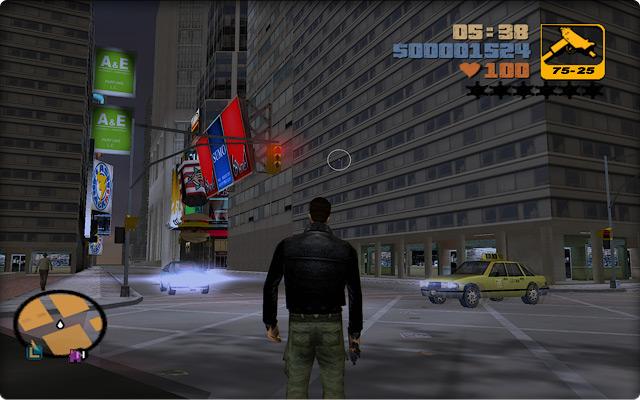 Grand Theft Auto III. Прогулка по центру Стонтон-Айлэнда.