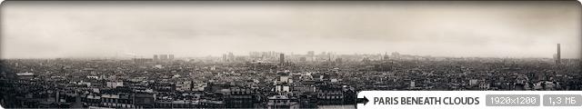 Paris Beneath Clouds