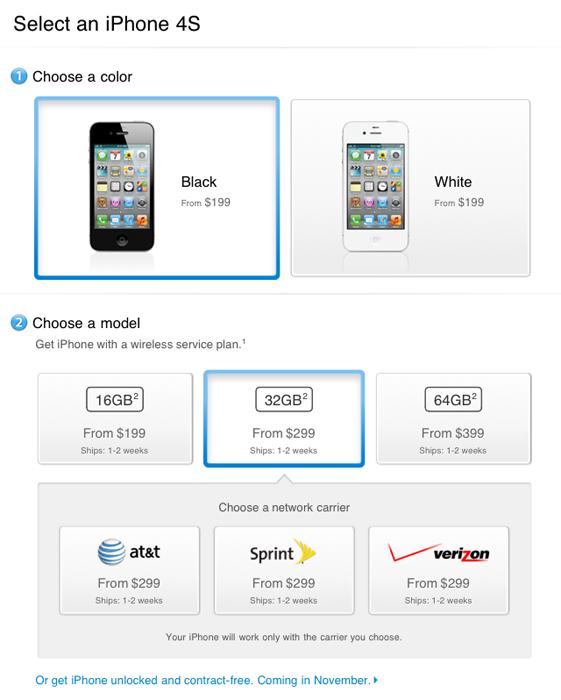 iphone 4s цены