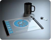 стеклянный планшет