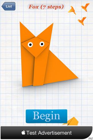 оригами для iphone