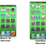 Как будет выглядеть дисплей 4-х дюймового iPhone [Фото]