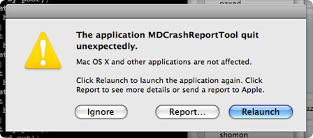 error report os x