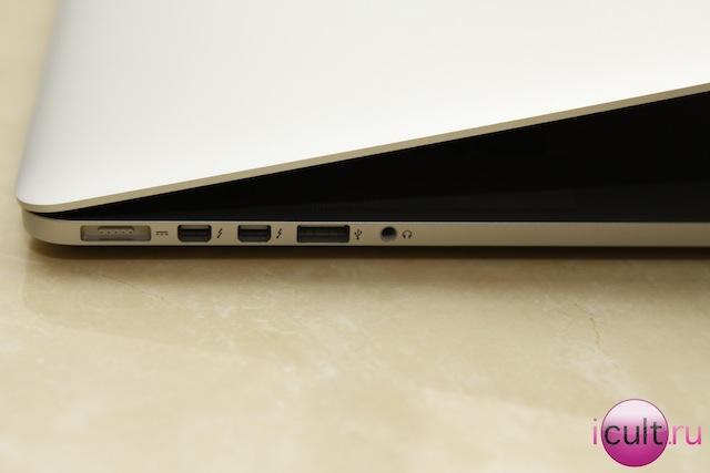 MacBook Pro retina - левая часть корпуса
