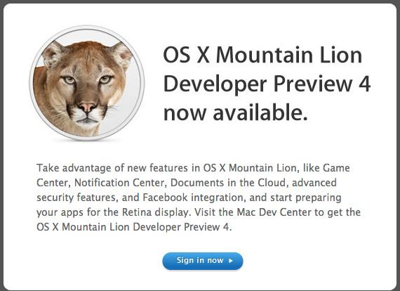mountain lion dev 4
