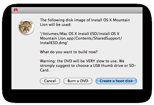 Создаем загрузочную флешку или диск с OS X Mountain Lion