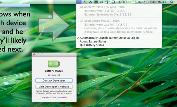Battery Status для Mac