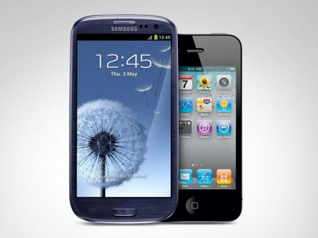 Samsung Galaxy S III and iPhone 4S