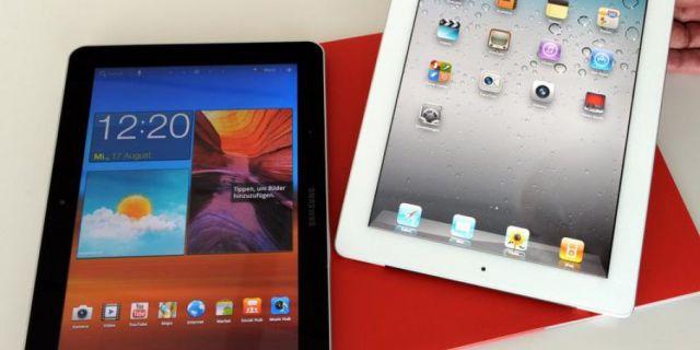 Samsung Galaxy Tab 2 and iPad 3