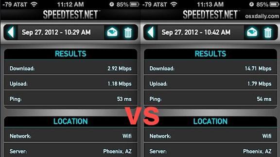 Speedtest Wi-Fi iOS 6