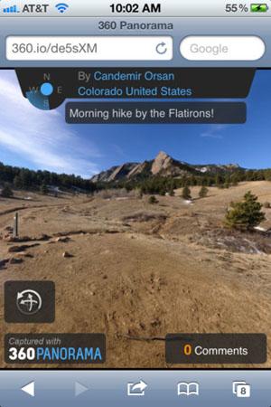 Панорамная съёмка на iPhone