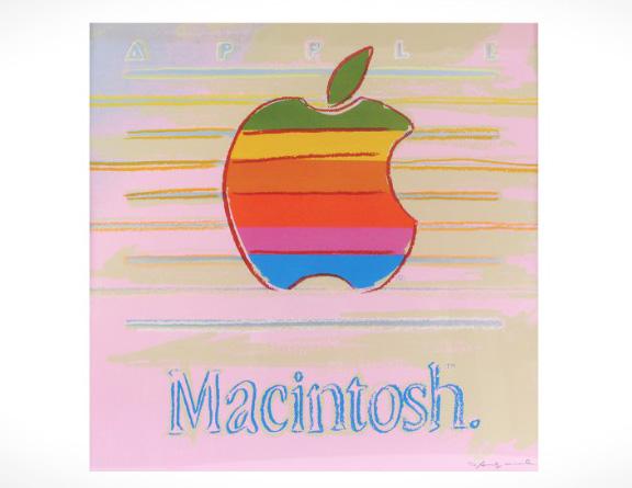 Трафаретное лого Apple