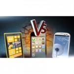 iPhone 5, Samsung Galaxy S3 и Nokia Lumia 920 — битва флагманов