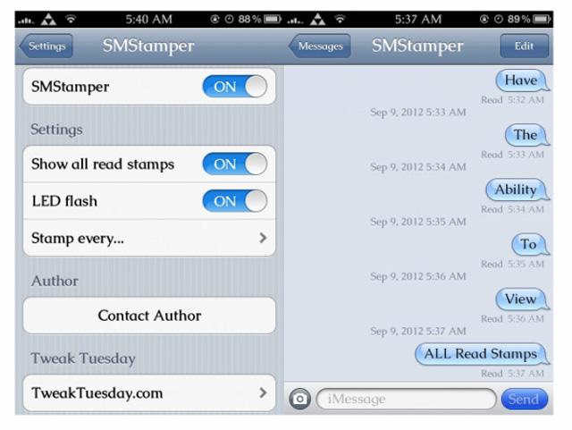 Как в айфоне сделать смс непрочитанным