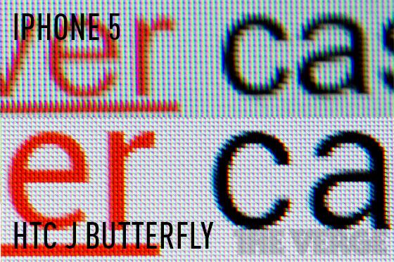 iPhone 5 vs HTC J Butterfly