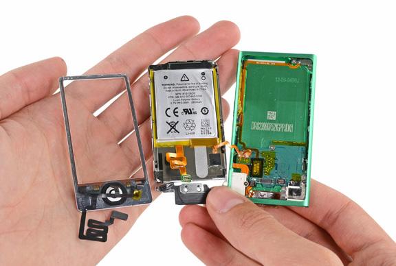 Внутренности iPod nano 7G