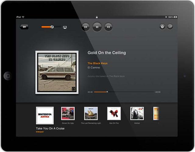 Музыкальный плеер для iPad