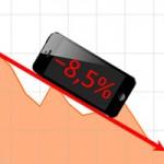 С момента выпуска iPhone 5 акции Apple упали на 8,5%