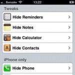 Как скрыть иконки штатных приложений в iOS без джейлбрейка