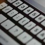Белые полоски на клавиатурном блоке в iPhone 5