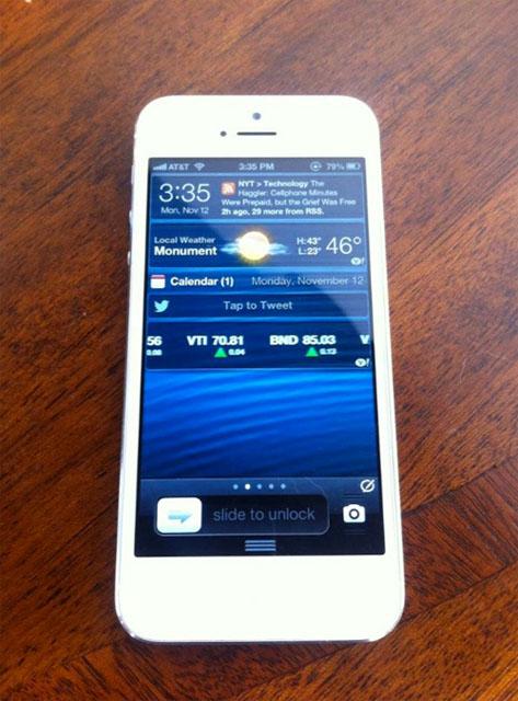 IntelliScreenX на iPhone 5